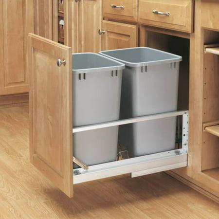 Rev A Shelf Double Soft Close Pull Out 35 Qt Trash Can