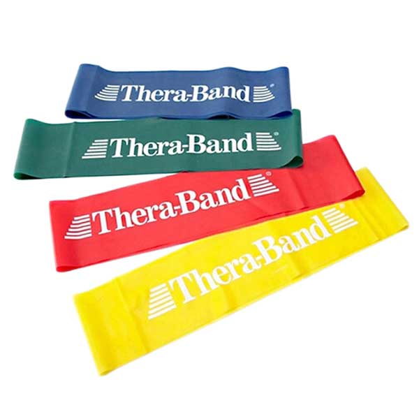 """Thera-Band Professional Resistance Band Loops-8""""-Red (Medium)"""