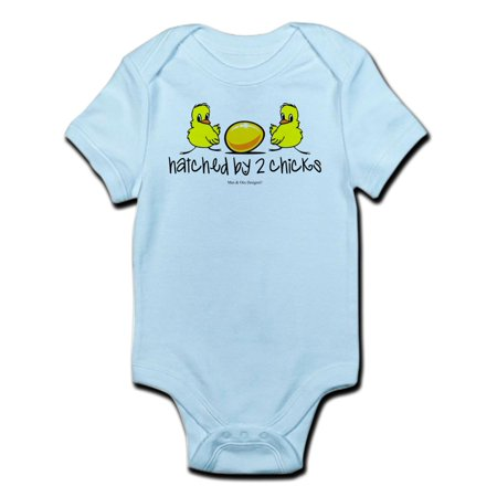 CafePress - Hatched By 2 Chicks Infant Bodysuit - Baby Light Bodysuit (Hatch Screen)