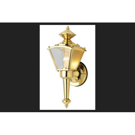- Westinghouse 1 lights Polished Brass Outdoor Wall Lantern