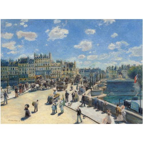 "Trademark Fine Art ""Pont Neuf Paris"" 1872 Canvas Art by Pierre-Auguste Renoir"