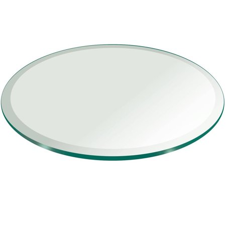 "Glass Table Top, 36"" Round, 1/4"" Thick, Beveled Tempered"