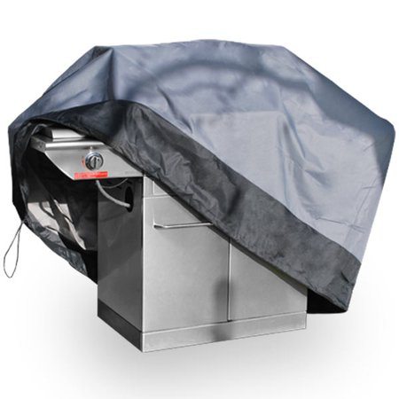 """Premium Waterproof Barbeque BBQ Grill Cover Small 44"""" Length Dark Grey with Black Hem - 100% Waterproof Barbecue Propane Gas Grill Winter Storage Cover"""