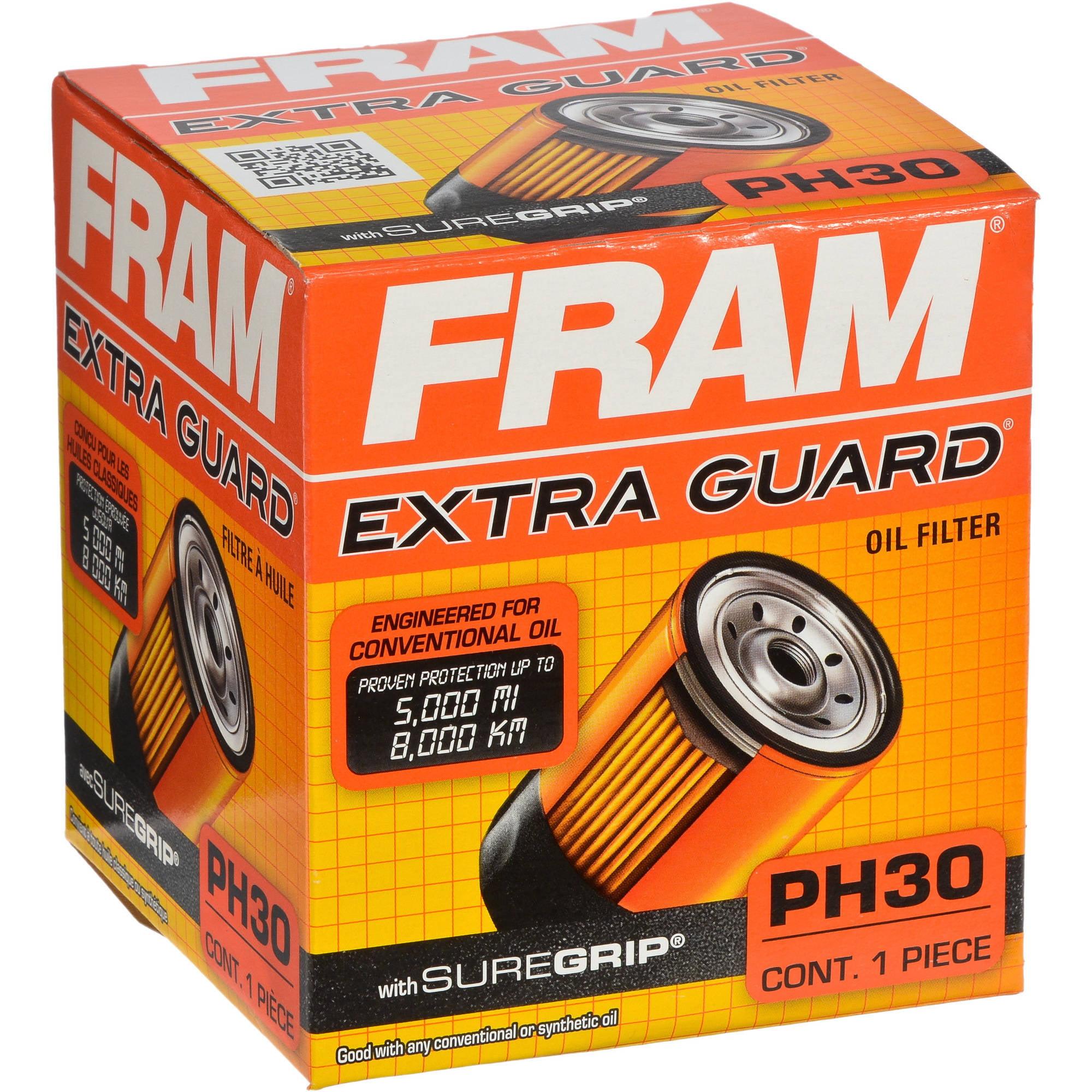 FRAM Extra Guard Oil Filter, PH30