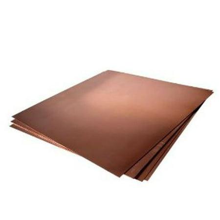 16oz Copper Sheet 0 0216 24 Ga 4 x4 Unpolished Mill Finish 4 Pack