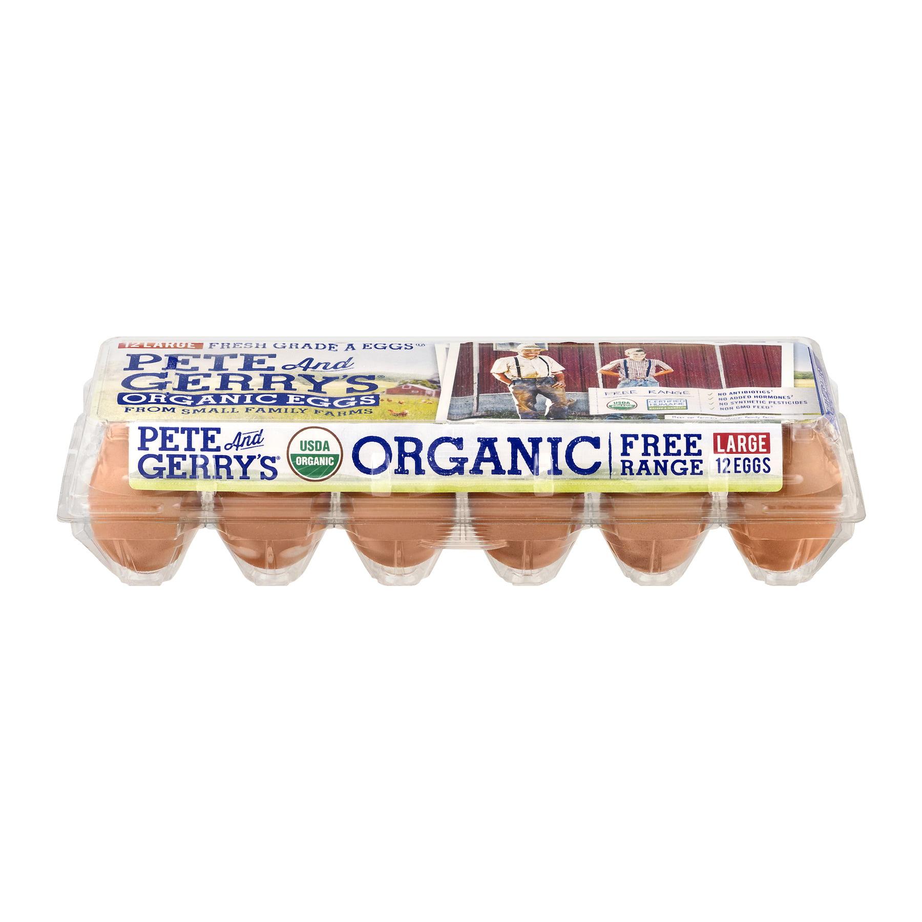 Pete & Gerry s Organic Grade AA Brown Eggs 12 Count Walmart