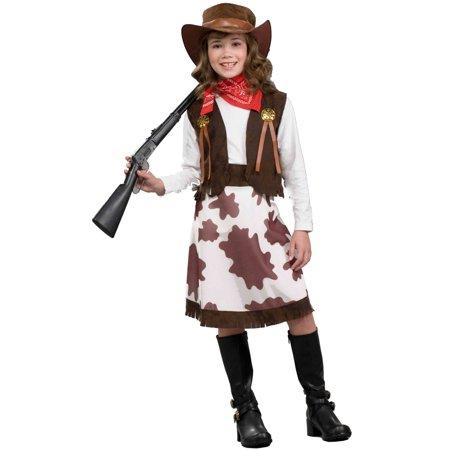 Cowgirl Child Costume (M) (Cowgirl Kids Costume)