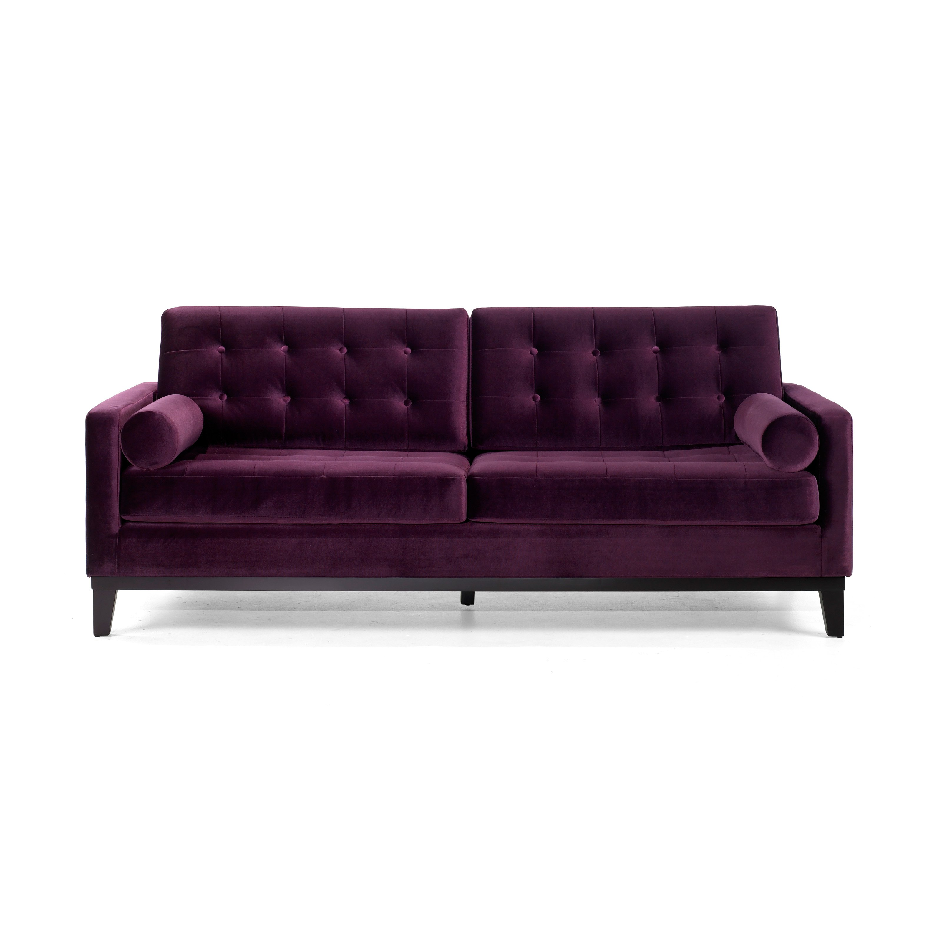 Armen Living Centennial Purple Velvet Sofa by Armen Living