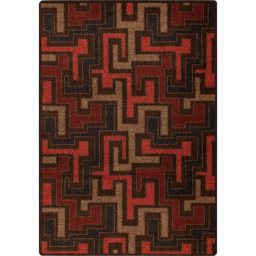 Milliken Mix and Mingle Red Umber Junctions Rug