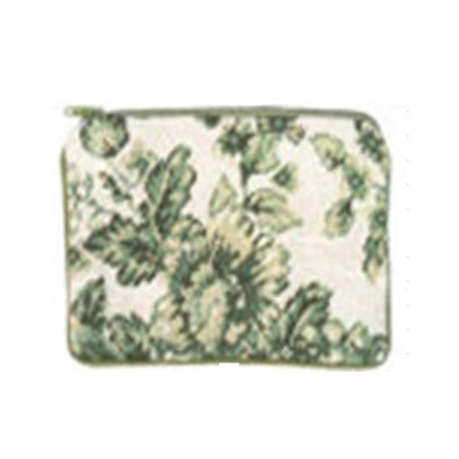 123 Creations C533CC-4.5x7 in. A-Toil-Green Needlepoint Cosmetic Case