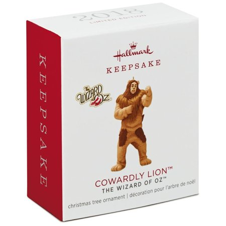 Hallmark Keepsake 2018 Mini Cowardly Lion Christmas Ornament Limited New w Box](Wizard Of Oz Ornaments)