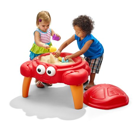 3 Tub Sand N-water Table - Step2 Crabbie Sand Table, Includes 4-piece sand toy accessory set