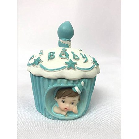 Baby Cake Cupcake Boy Cake Topper Favor Souvenir for 1st Birthday-Baby Shower 10 Ct