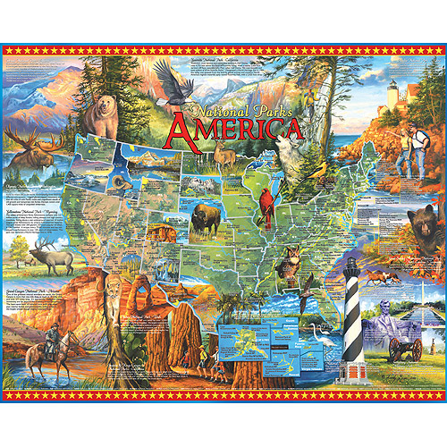 White Mountain Puzzles National Park America, 1000-pieces