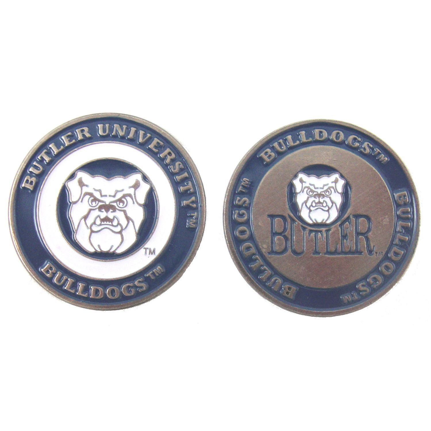 Butler Wildcats NCAA Double-Sided Golf Ball Marker, 1 Team Logo Double Sided Ball Marker By Waggle Pro Shop,USA