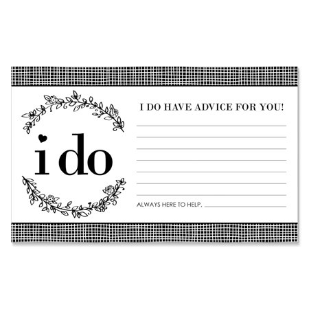 I Do - Wedding Advice Cards - 18 Count