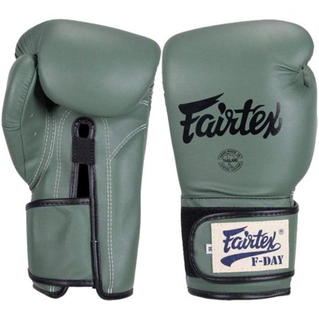 Fairtex Muay Thai Boxing Gloves Limited Edition BGV11 F Day Military Green  Size 10 12 14 16 oz Training & Sparring Gloves for Muay Thai Kick Boxing