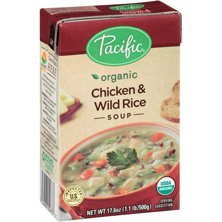 Pacific Organic Chicken & Wild Rice Soup, 17.6 oz, (Pack of
