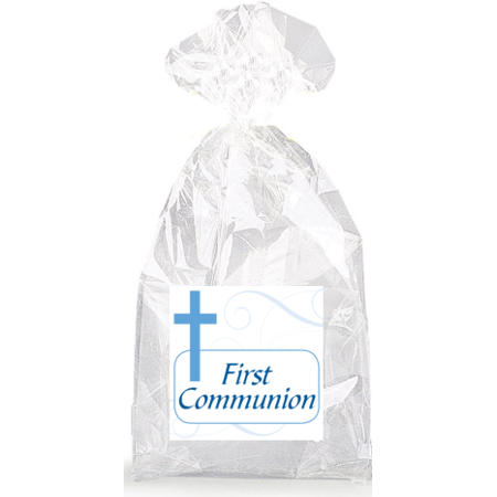 Boys Blue Cross First Communion  Party Favor Bags with Ties - 12pack](Communion Party Bags)