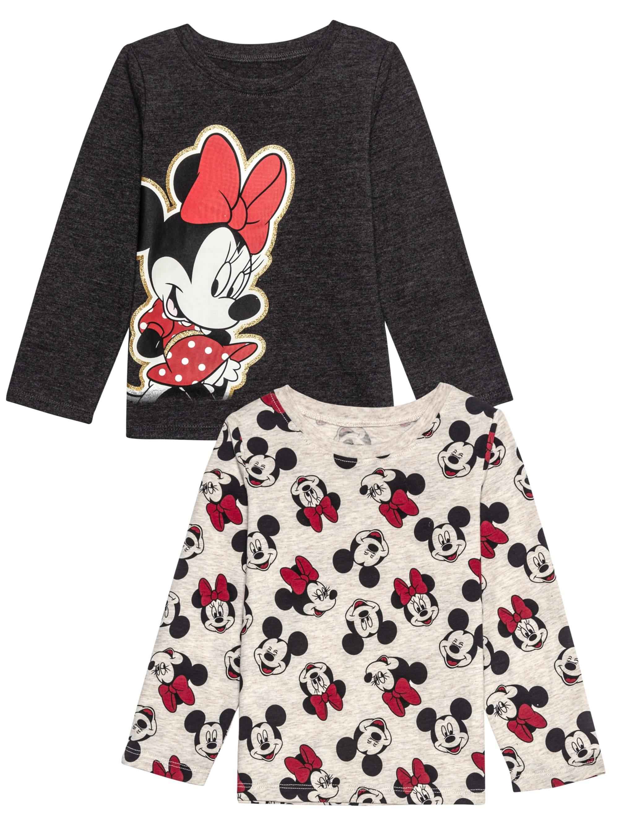 Minnie Pose Long Sleeve Graphic T-shirts 2pk (Baby Girls & Toddler Girls)
