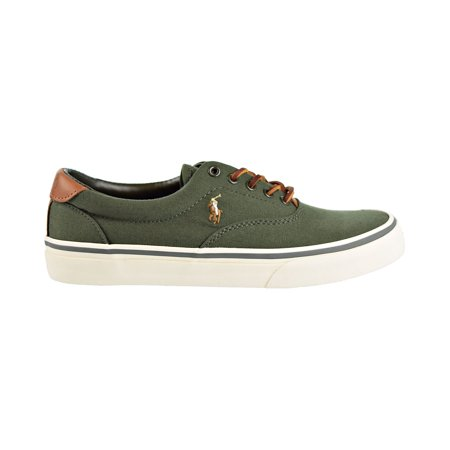 Polo Ralph Lauren Thorton Canvas Men's Shoes New Olive