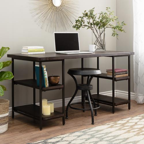 I Love Living Renate Desk in Coffee Finish