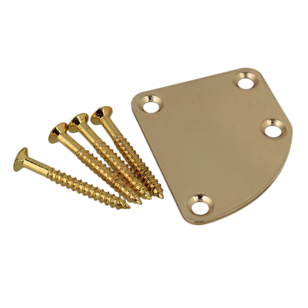 BQLZR Gold Asymmetric Guitar Neck Back Plate and Screws by