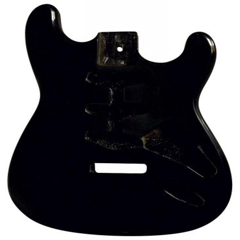 Golden Gate S-201 Vintage S Style Electric Guitar Body Black by