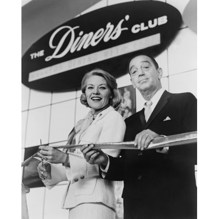 1950 Diner Decor (Ralph Schneider Assists Patti Page Cutting Ribbon To Open Diners Club Exhibit At 1964 WorldS Fair Diners Club Was The First Independent Credit Card Company In 1950 Schneider Co-Founded The)