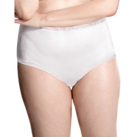 Women's Nylon Hi-Cut Brief Panties 5-Pack