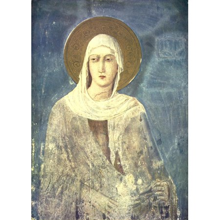 Old Masters 1900 St Clara Poster Print by  Simone Martini