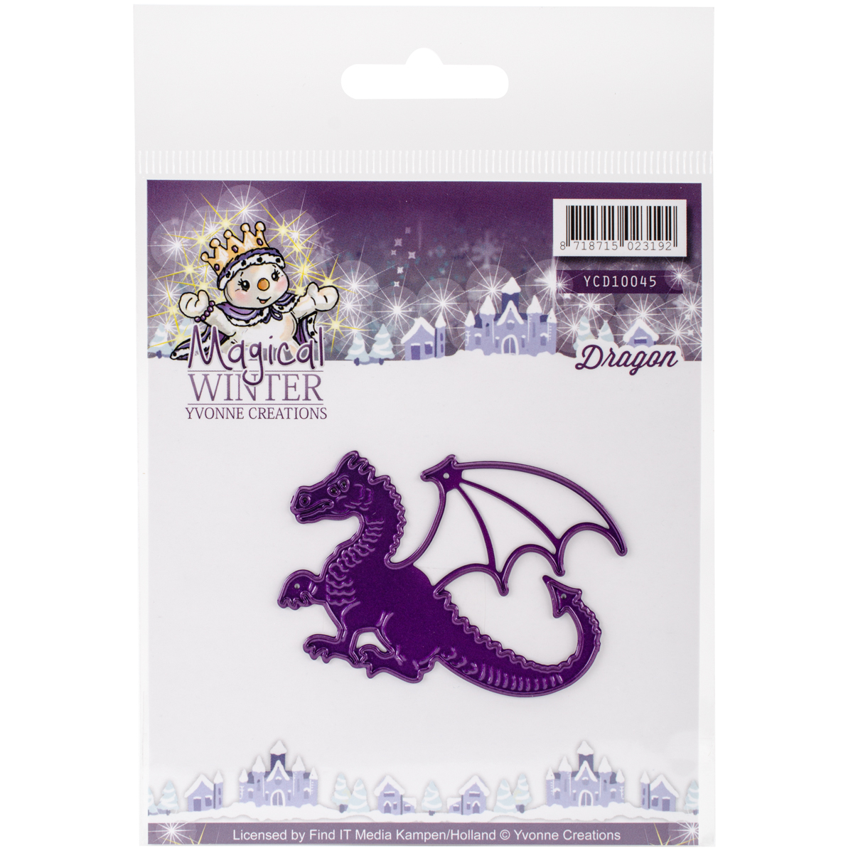 Find It Trading Yvonne Creations Magical Winter Die, Dragon