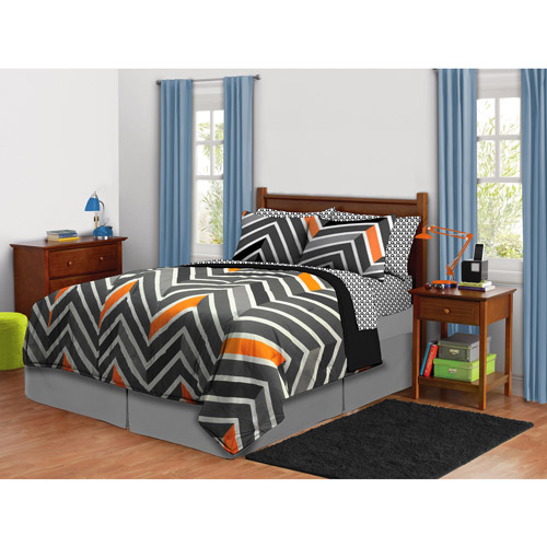 Latitude Zig Zag Neon Bed-in-a-Bag Bedding Set