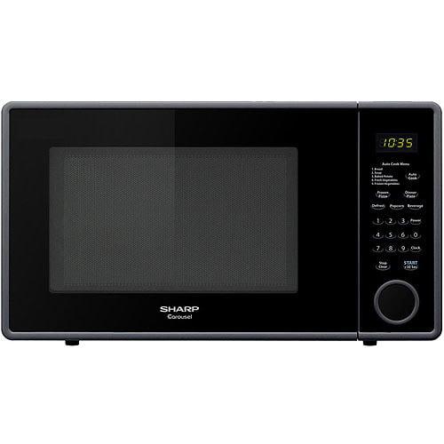 Sharp 1.1-cu ft Microwave, Smooth Black