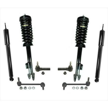 Front Struts Rear Shocks Tie Rods 8pc Kit Chrysler 300 05-10 Rear Wheel Drive Chrysler Front Wheel Drive Car