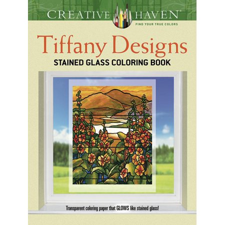 Tiffany Designs Stained Glass Coloring Book](Stained Glass Coloring Pages)