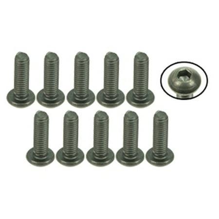 Integy RC Toy Model Hop-ups TS-BSM310M 3Racing M3 x 10 Titanium Button Head Hex Socket - Machine (10 Pcs), XI