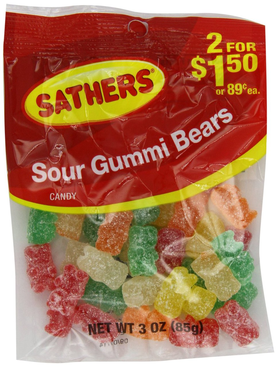12 PACKS : Farley's & Sathers Candy, Sour Gummy Bears, 3 Ounce by