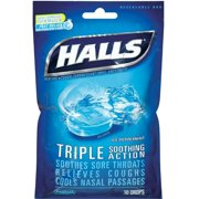 Mentho-Lyptus Drops, Ice Peppermint 30 ea, Advanced Vapor Action formula. By Halls