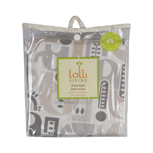 Lolli Living Fitted Sheet – Naturi Print – 100% Cotton Sheet, Fully Elasticized W/ Extra Deep Corners For Secure Fit, Gentle On Baby Skin.