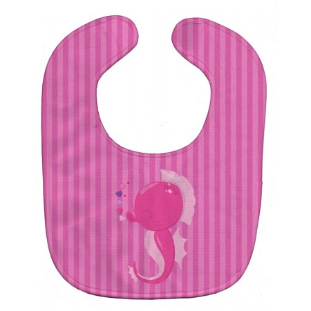 Pink Seahorse Baby Bib BB7130BIB - Baby Seahorse For Sale