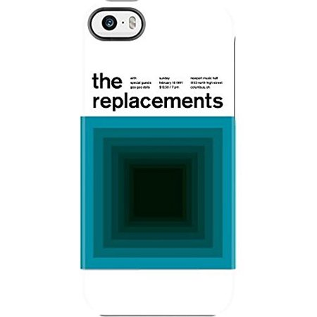 Uncommon Case Capsule Two Piece Hard Shell Swissted Vintage Rock Art By Mike Joyce For Iphone Se   5S  5   The Replacements