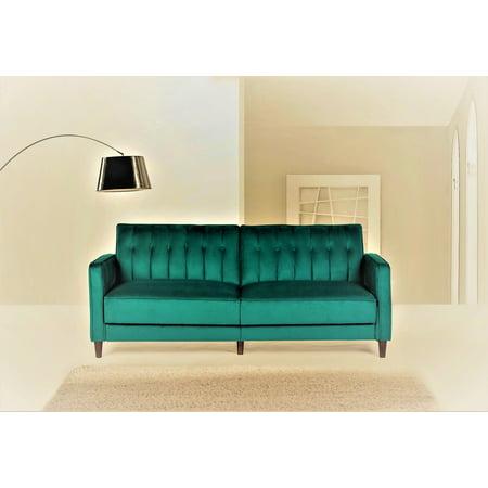 - US Pride Furniture Mariposa Luxury Mid-Century Contemporary Sofa Bed Design, Green