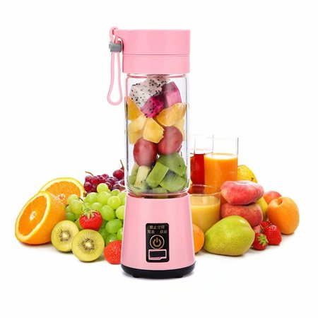 Orino Mini Personal Size Blender 6 Blades in 3D 13.5oz Small Juicer Cup USB Rechargeable Blender Fruits Vegetables Smoothies Multi-functional Mixing (The Best Blenders For Green Smoothies)