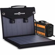 Rockpals 60W Foldable Solar Panel with QC3.0 USB Ports for USB Devices