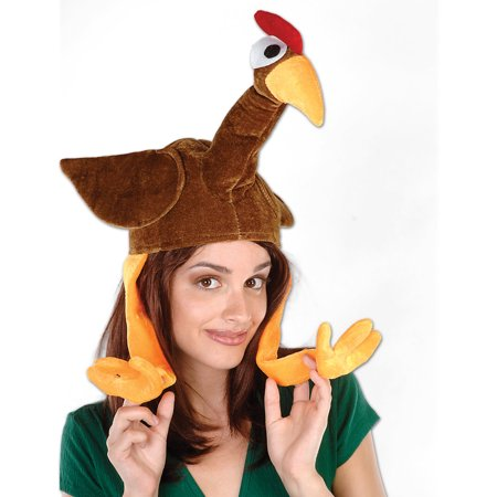 Plush Gobbler Hat Adult Halloween Accessory - Hat Factory Halloween