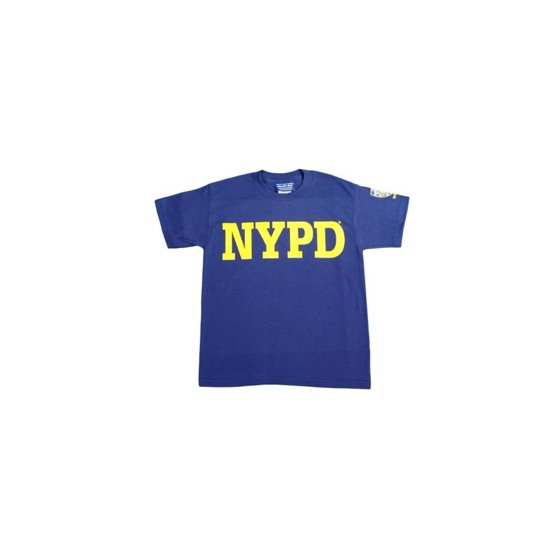 9830372ea NYPD - NYPD Kids Short Sleeve Screen Print Sleeve Badge T-Shirt Navy Small  (6-8) - Walmart.com
