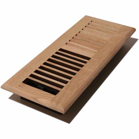 Decor grates wood louvered register unfinished oak 4 x for Decor grates