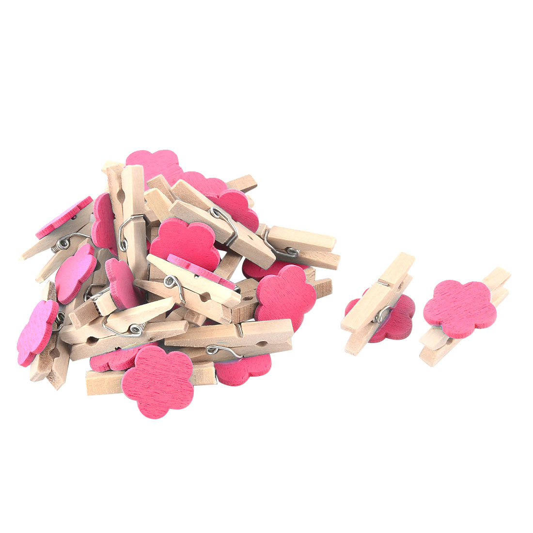 Unique Bargains 20pcs Card Photo Natural Crafts Pegs Mini Wooden Clip