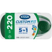 Dr. Scholl's Custom Fit CF220 Orthotic Shoe Inserts for Foot, Knee and Lower Back Relief, 1 Pair